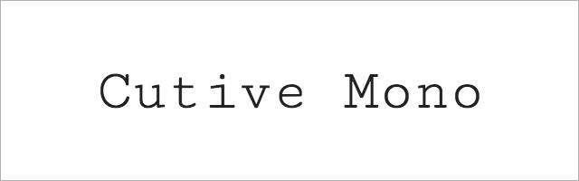 Cutive_Mono