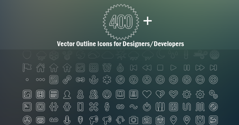 400+ _Vector_Outline _con Set